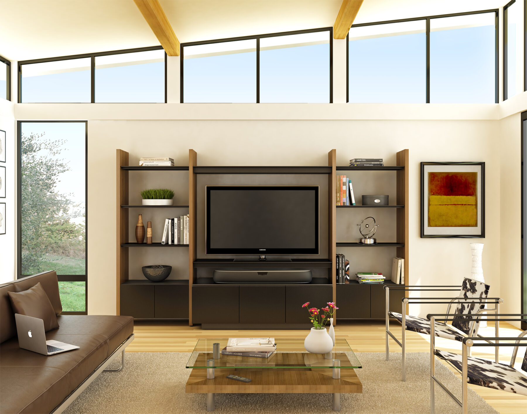 semblance-5423tj-bdi-walnut-modular-home-theater-system-lifestyle-1