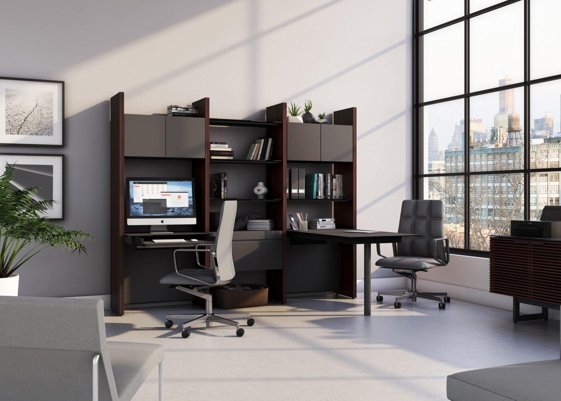 semblance-5431-PD-bdi-chocolate-modular-office-system-lifestyle-1