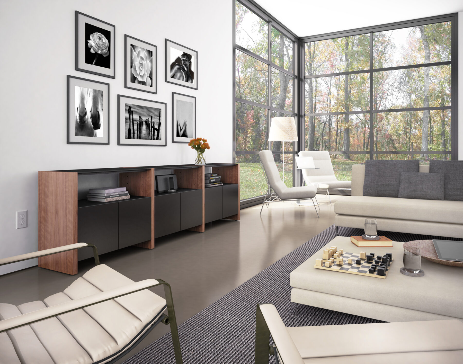 semblance-5453eg-bdi-walnut-modular-storage-system-lifestyle-1