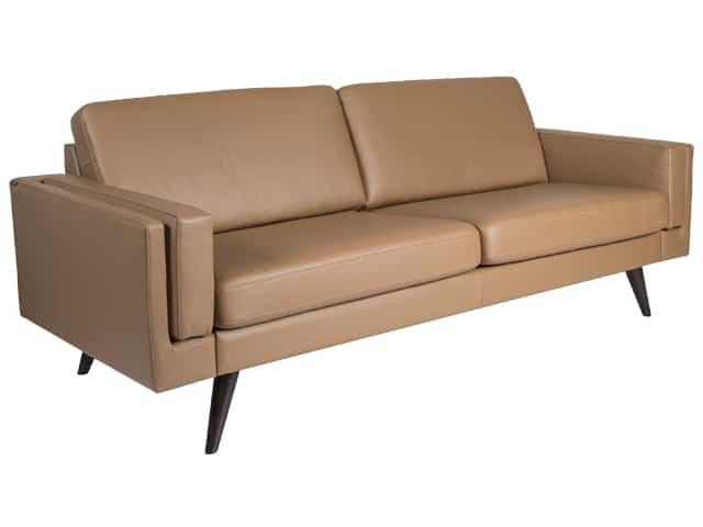 NordicSofa Sofa 3 seater DUO (2 x 33-1.5 cushions) Arm 11 SL Hassel Espresso