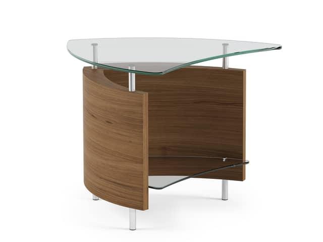 fin table bdi 1110 end table walnut 1