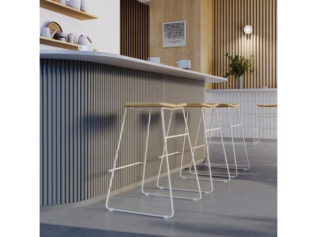 Aero Bar Stools Ash Natural & Swan – L01