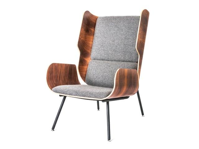 Elk Chair – Andorra Pewter & Walnut – P01