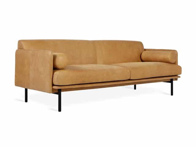 Foundry Sofa – Canyon Whiskey Leather – P01