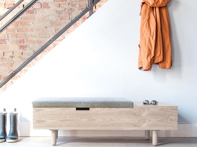 Mimico Storage Ottoman – White Wash Ash & Andorra Pewter – L01