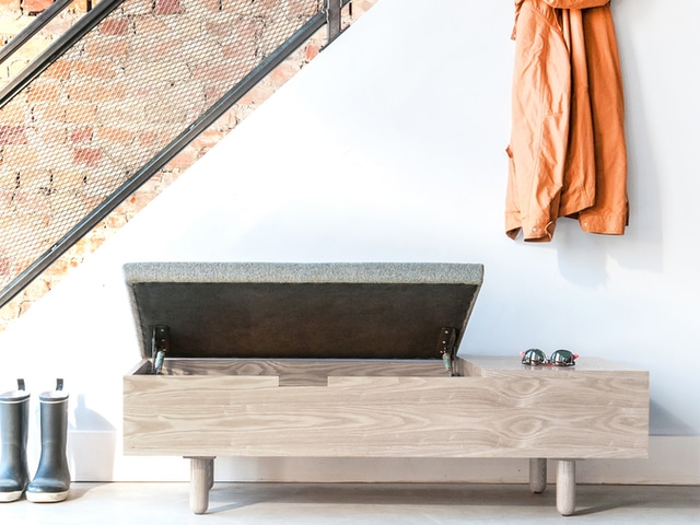 Mimico Storage Ottoman – White Wash Ash & Andorra Pewter – L02