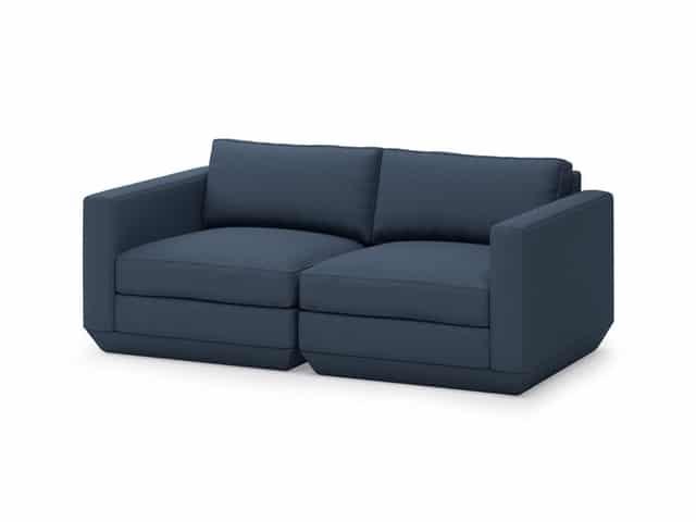 Podium Modular 2PC Sofa – Hanson Navy – P01