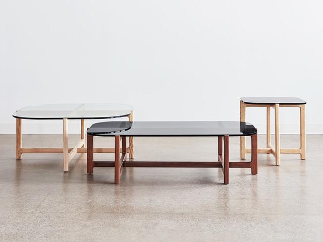 Quarry End Table – Smoke Glass & Natural Ash – L01