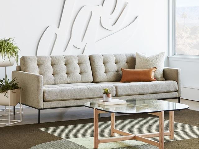 Towne Sofa – Funfetti Linen – L01