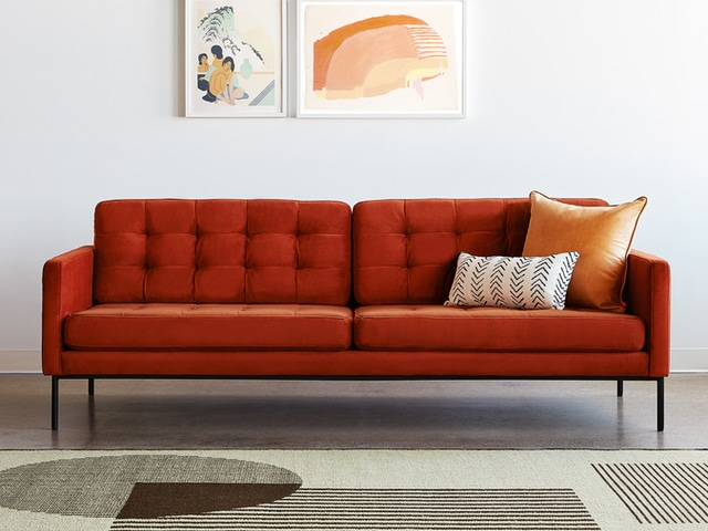 Towne Sofa – Velvet Russet – L01