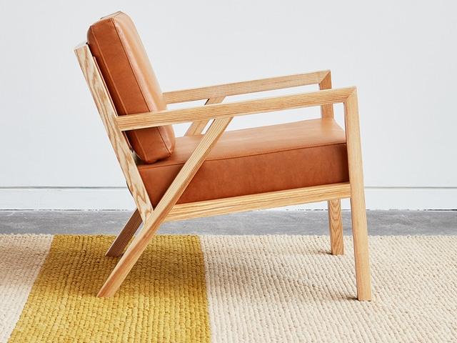 Truss Chair – Vegan AppleSkin Leather Cognac & Natural Ash – L01