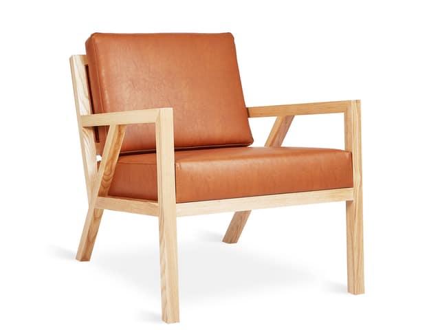 Truss Chair – Vegan AppleSkin Leather Cognac & Natural Ash – P01