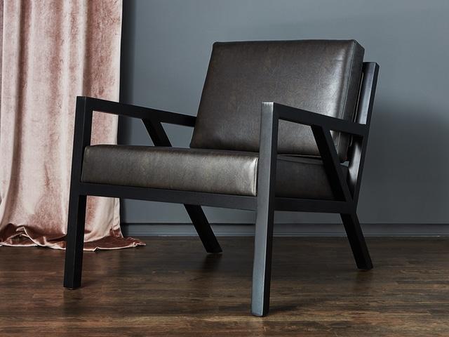 Truss Chair – Vegan AppleSkin Leather Licorice & Black Ash – L01